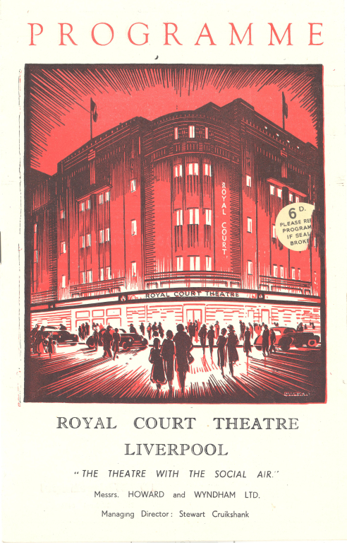 Royal Court Theatre programme